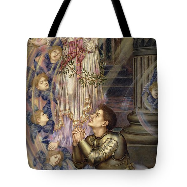 Our Lady Of Peace Tote Bag by Evelyn De Morgan