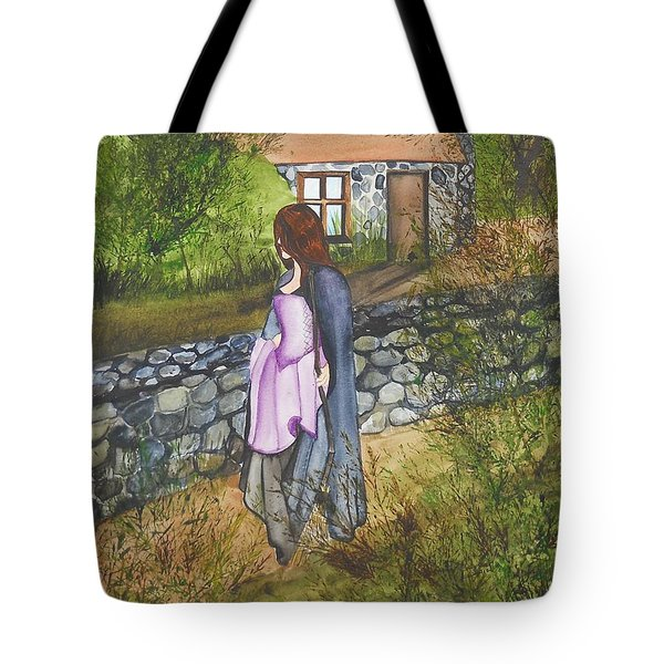 Tote Bag featuring the painting Our Lady Of Salem by Virginia Coyle