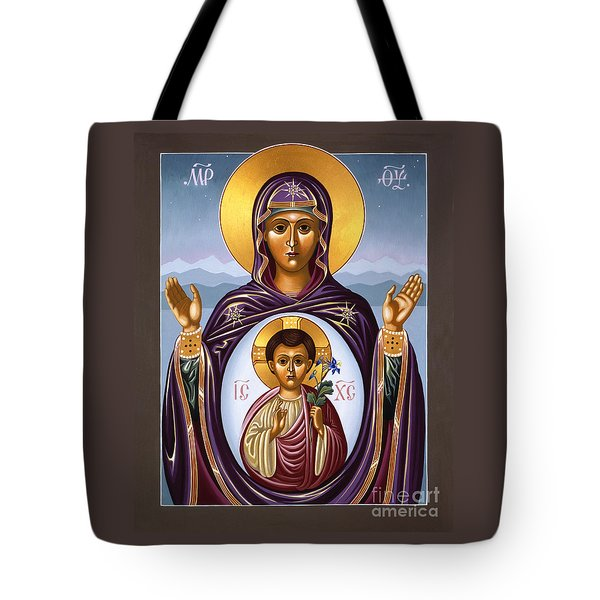 Our Lady Of The New Advent Gate Of Heaven 003 Tote Bag