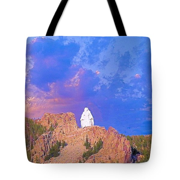 Tote Bag featuring the photograph Our Lady Of The Rockies by Janette Boyd