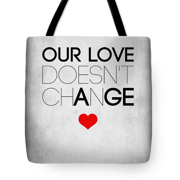 Our Life Doesn't Change Poster 2 Tote Bag