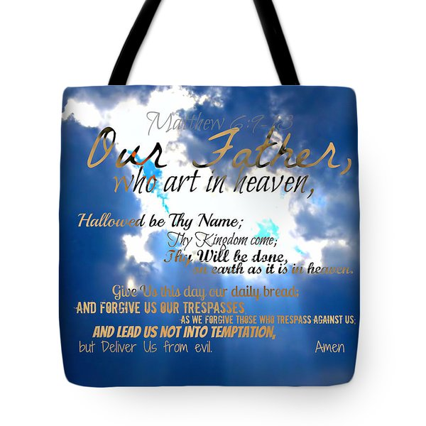 Our Lords Prayer Tote Bag