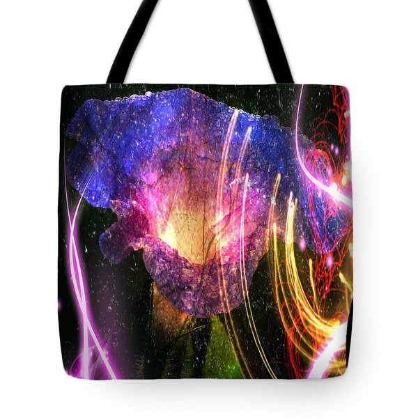Tote Bag featuring the digital art Our Love Is Now Forever Entwined by Absinthe Art By Michelle LeAnn Scott