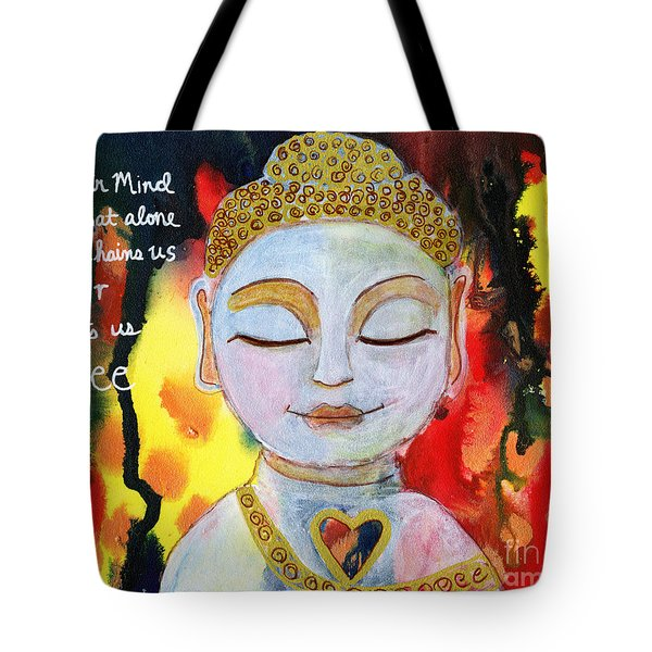 Our Mind Sets Us Free Tote Bag