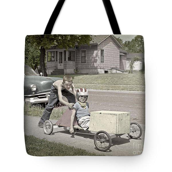 Our Racing Cart Tote Bag