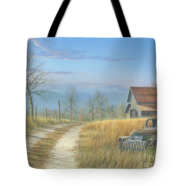 Tote Bag featuring the painting Our Time Has Come And Gone by Mike Brown
