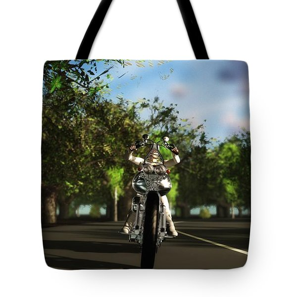 Tote Bag featuring the digital art Out For A Ride... by Tim Fillingim