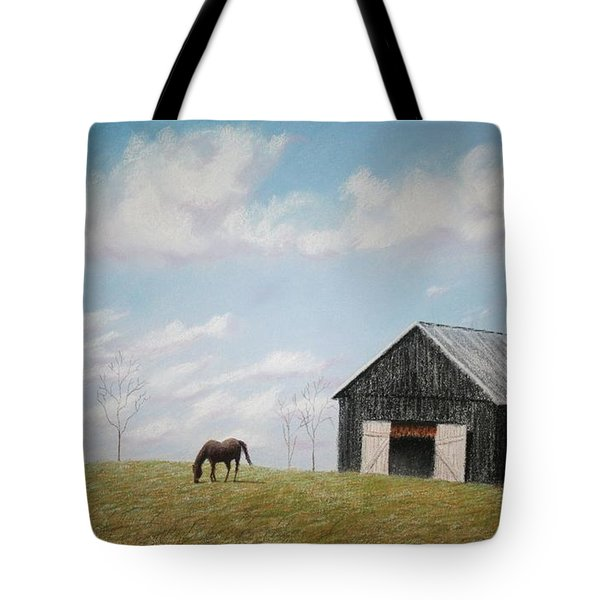Tote Bag featuring the pastel Out For Breakfast by Stacy C Bottoms