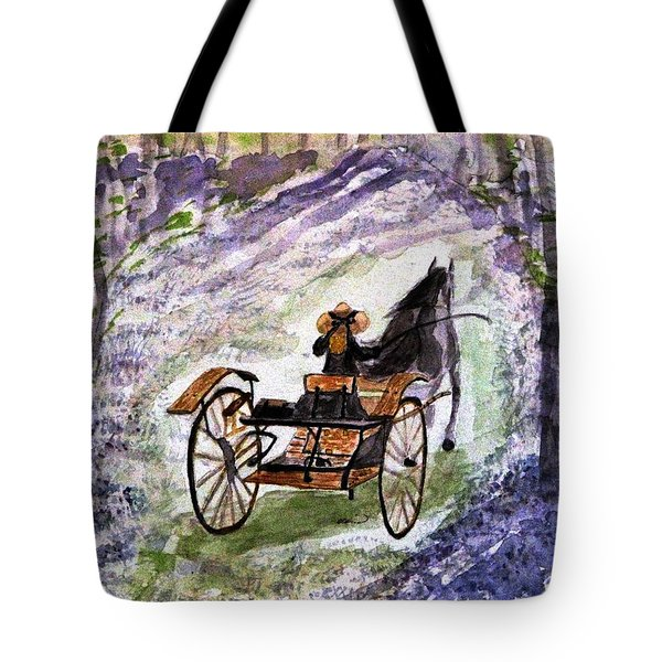 Out In The Meadowbrook Cart Tote Bag