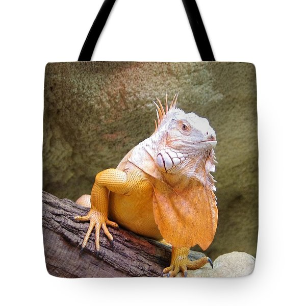 Out Of Africa Orange Lizard 1 Tote Bag
