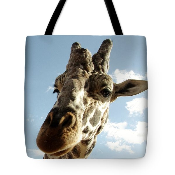 Out Of Africa  Reticulated Giraffe Tote Bag