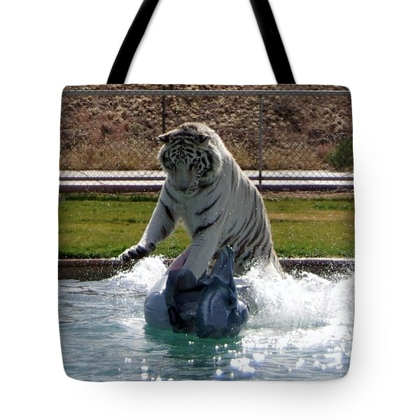 Out Of Africa Tiger Splash 1 Tote Bag