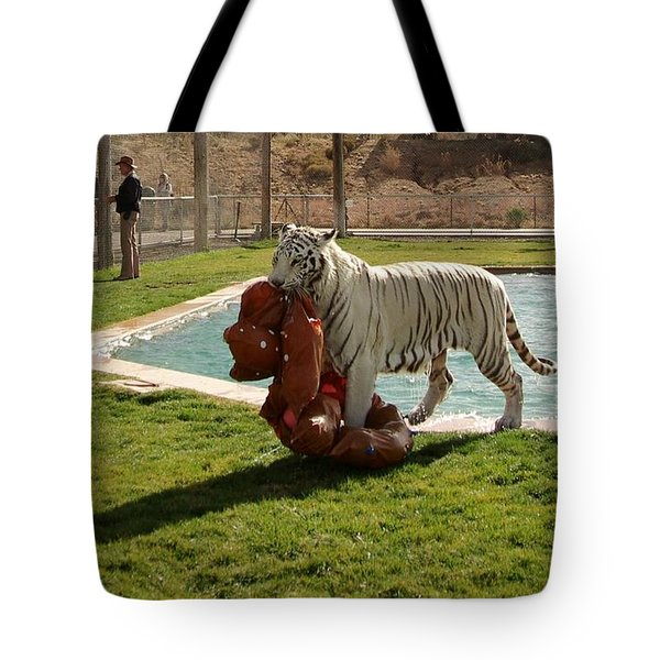 Out Of Africa Tiger Splash 2 Tote Bag