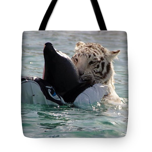 Out Of Africa Tiger Splash 4 Tote Bag