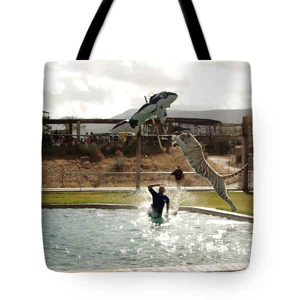 Out Of Africa  Tiger Splash 6 Tote Bag