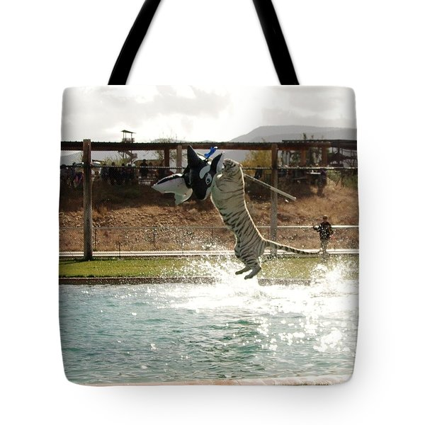 Out Of Africa Tiger Splash 7 Tote Bag