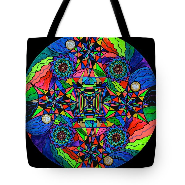 Out Of Body Activation Grid Tote Bag