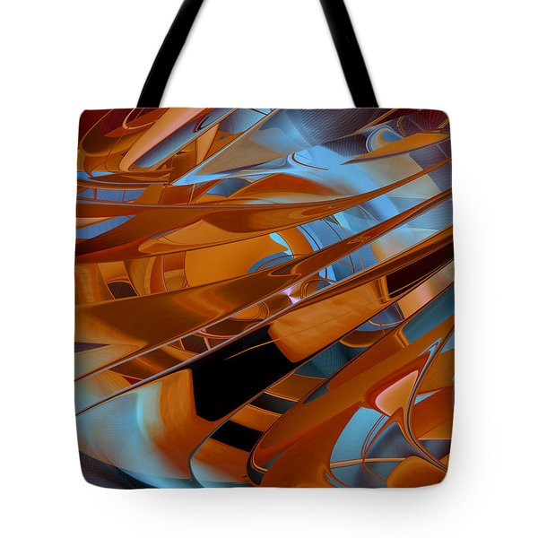 Out Of The Blue - Abstract Tote Bag by rd Erickson