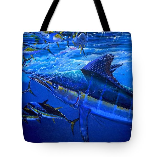 Out Of The Blue Tote Bag by Carey Chen