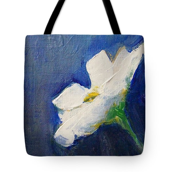 Tote Bag featuring the painting Out Of The Blue by Jane  See