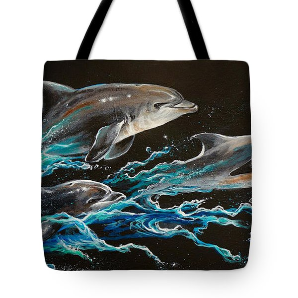 Out Of The Blue Tote Bag by Marco Antonio Aguilar