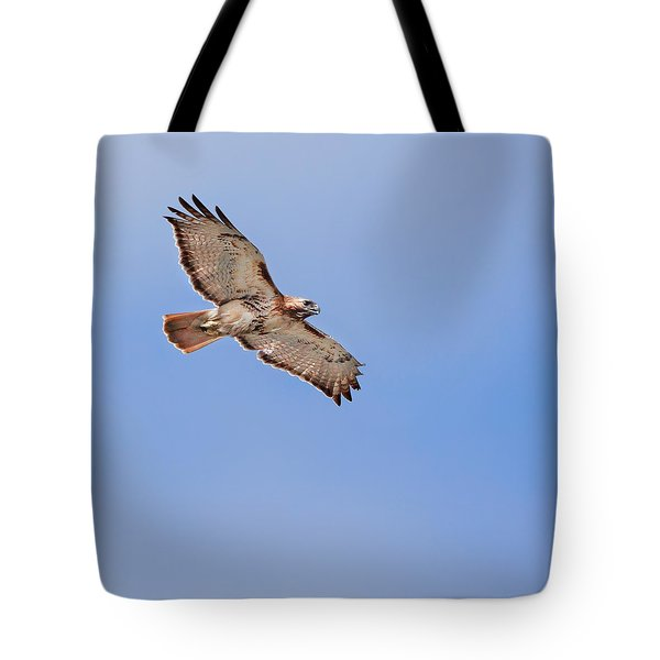 Out Of The Blue Square Tote Bag by Bill Wakeley