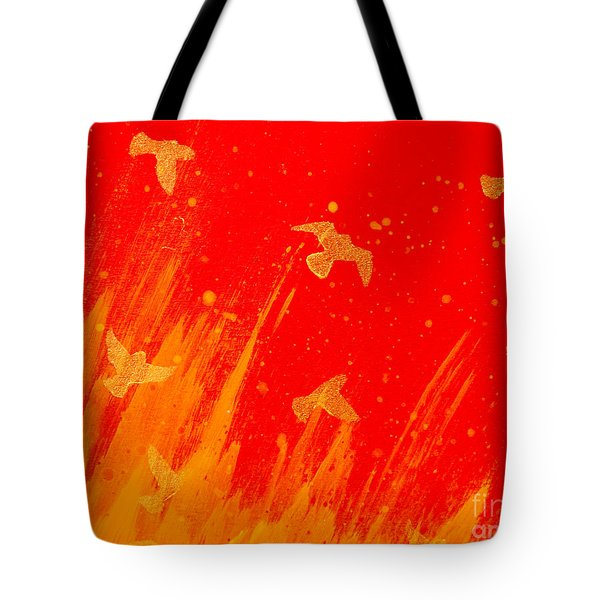 Out Of The Fire Tote Bag by Stefanie Forck