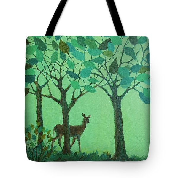 Out Of The Forest Tote Bag by Mary Wolf