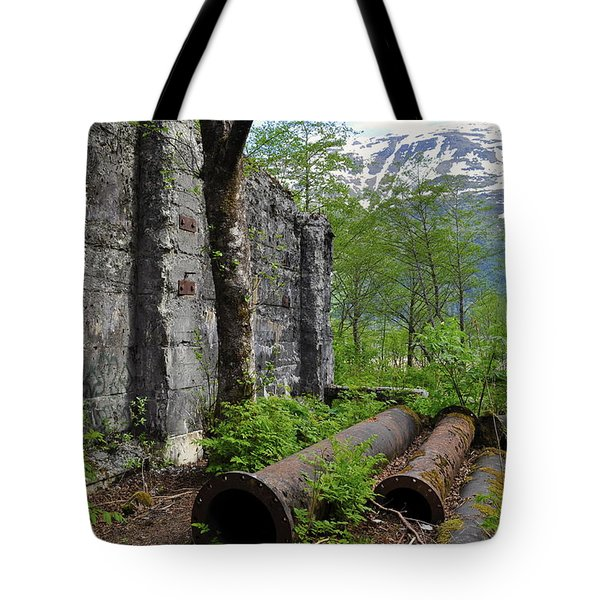 Tote Bag featuring the photograph Out From The Past by Cathy Mahnke