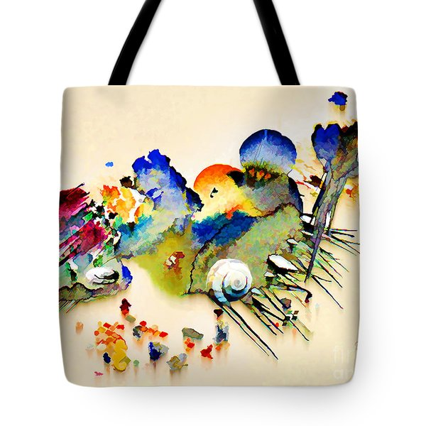 Out Of The Sea - Abstract Tote Bag