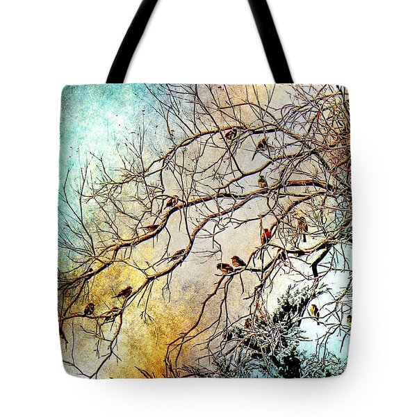Out On A Limb In Jewel Tones Tote Bag
