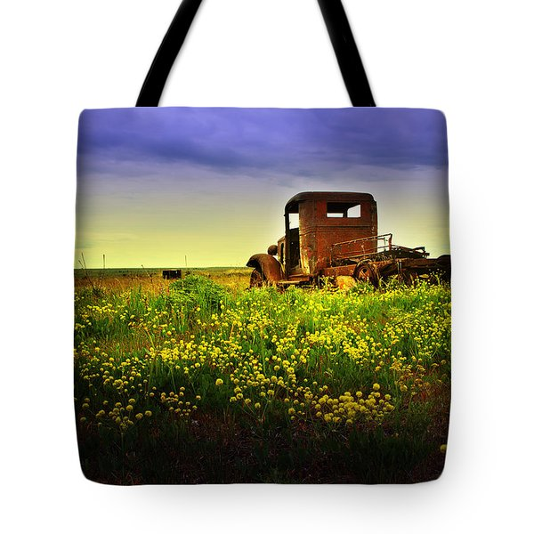 Tote Bag featuring the photograph Out To Pasture by Sonya Lang