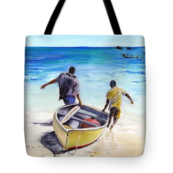 Out To Sea Tote Bag by Richard Jules