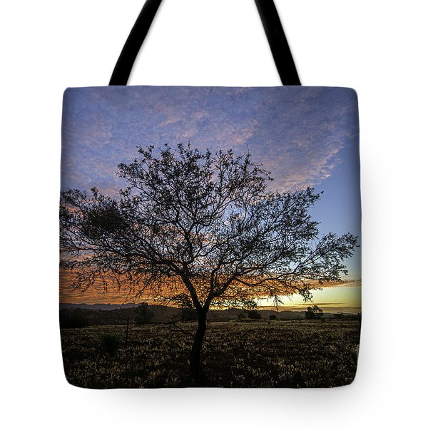 Tote Bag featuring the photograph Outback Sunset  by Ray Warren