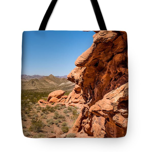 Tote Bag featuring the photograph Outcrop - Valley Of Fire State Park by  Onyonet  Photo Studios