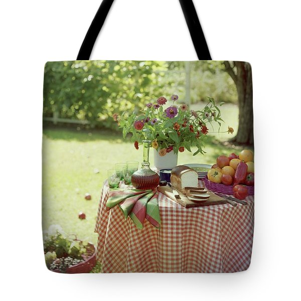 Outdoor Lunch In The Shade Of A Tree Tote Bag
