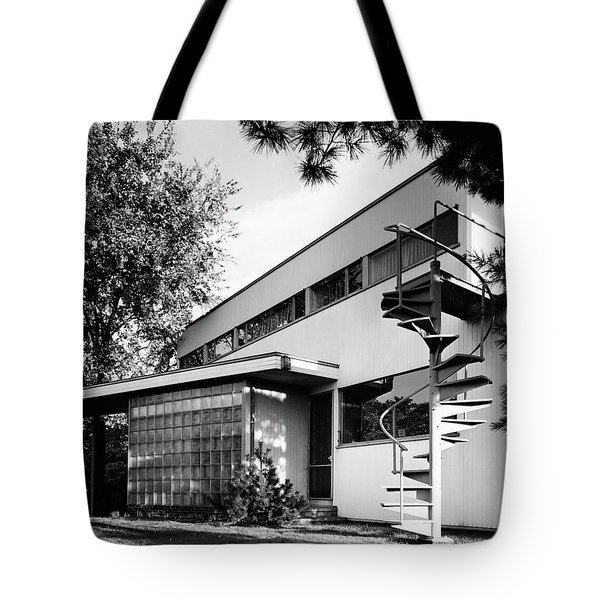 Outdoor Spiral Staircase To The Roof-deck Of Mr Tote Bag