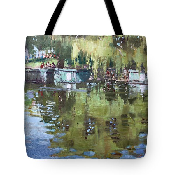 Outdoors At Port Credit Park Tote Bag