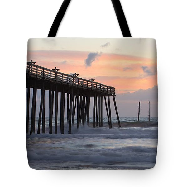 Outer Banks Sunrise Tote Bag by Adam Romanowicz