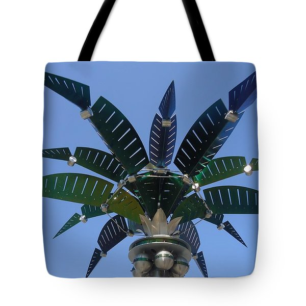 Outer Space Palm Tote Bag by Ann Johndro-Collins