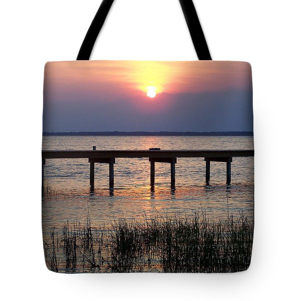 Tote Bag featuring the photograph Outerbanks Nc Sunset by Sandi OReilly
