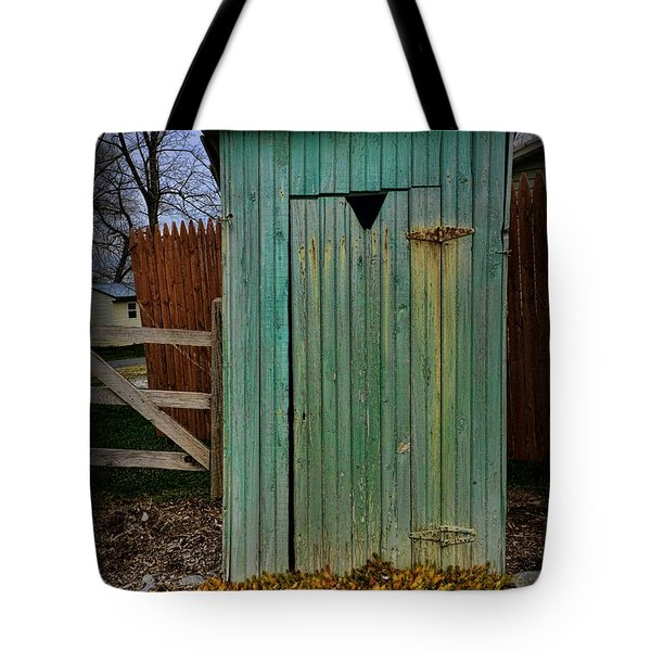 Outhouse - 6 Tote Bag by Paul Ward