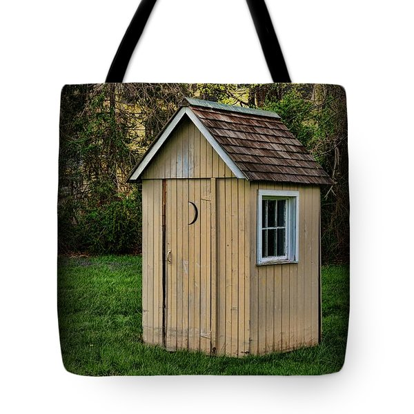 Outhouse - 8 Tote Bag by Paul Ward