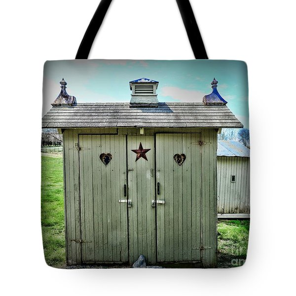 Outhouse - His And Hers Tote Bag by Paul Ward