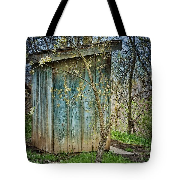 Outhouse In Spring Tote Bag by Nikolyn McDonald