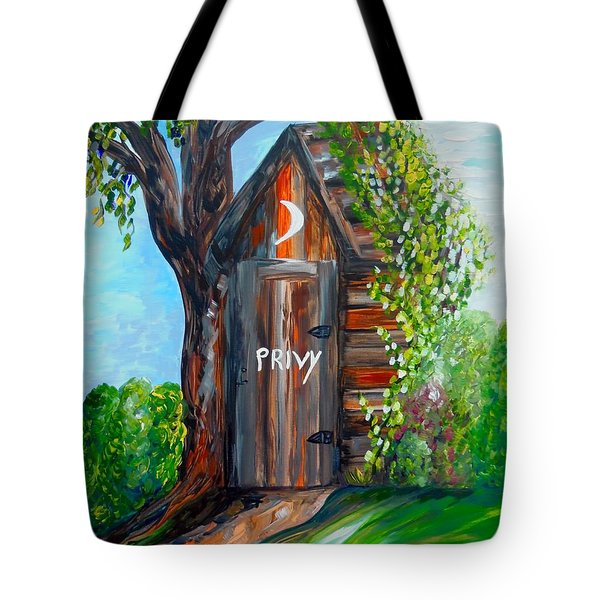 Tote Bag featuring the painting Outhouse - Privy - The Old Out House by Eloise Schneider