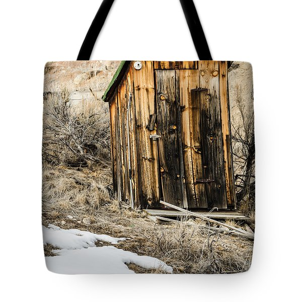 Outhouse With Electricity Tote Bag