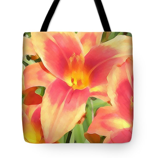 Outrageous Lilies Tote Bag by Jean Hall