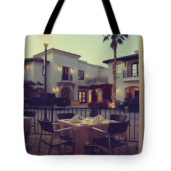 Outside Dining Tote Bag by Laurie Search