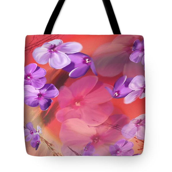 Tote Bag featuring the painting Outside Inspirations by Janie Johnson